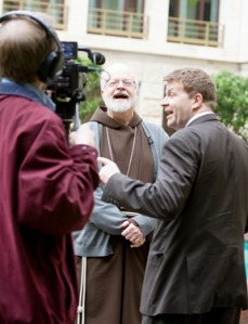 Cardinal O'Malley speaks with Jay Fadden of CatholicTV Network March 5. Pilot photo by Gregory L. Tracy